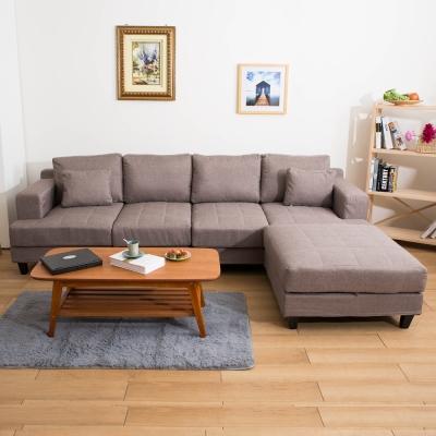 【日安家居】Lori蘿莉豆腐大L型沙發(3色)