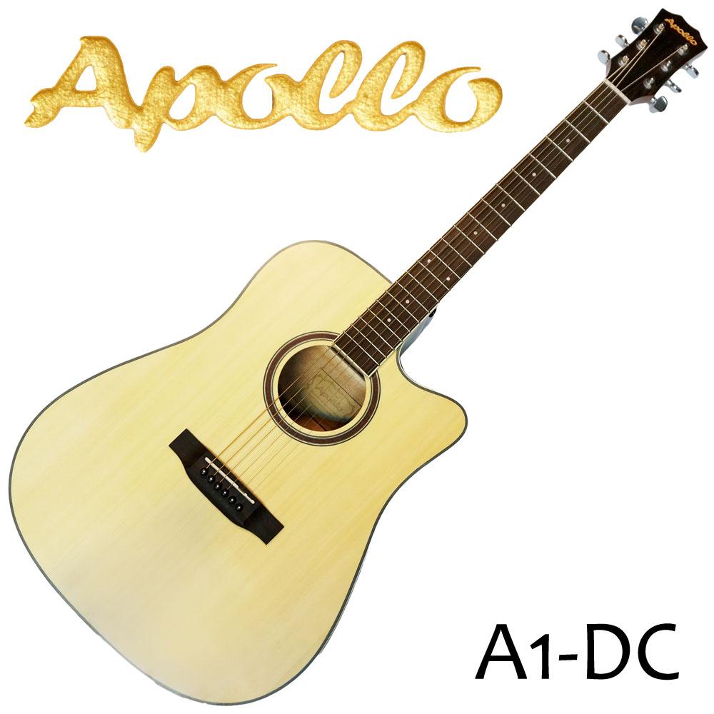 APOLLO A1-DC 缺角民謠吉他 原木色款