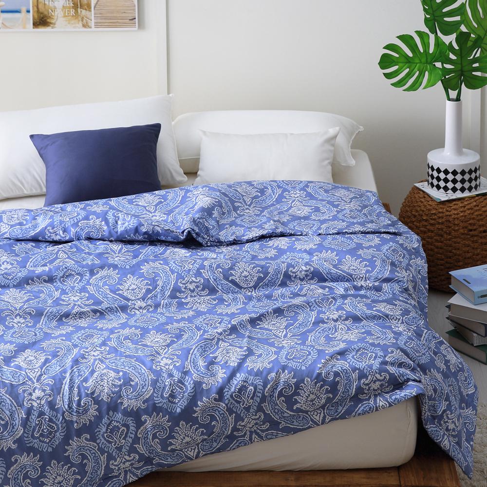 Cozy inn 湛青-深藍-300織精梳棉-涼被(6X7尺)