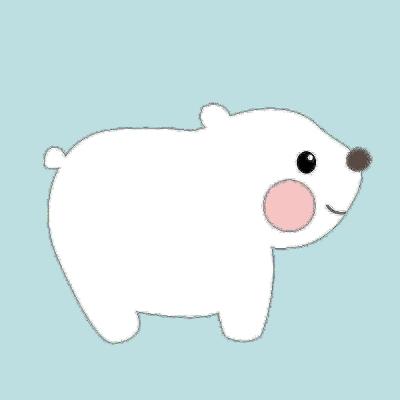 LOVIN 超萌韓版數字油畫 小白熊(4)1幅