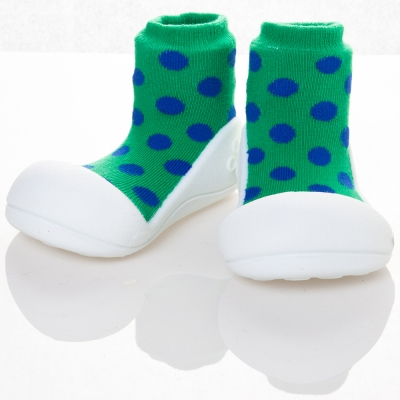 attipas 韓國娃娃鞋正廠品質有保證尺寸齊全AD 02 -圓點綠
