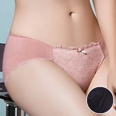 華歌爾 X美型系列 M-LL 中低腰三角褲(時尚黑)