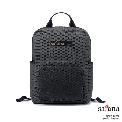 satana - 時尚網布後背包 - 深灰色