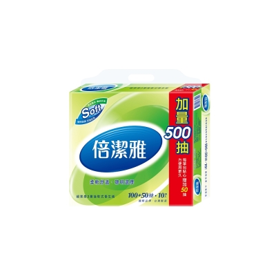 倍潔雅超質感抽取式衛生紙150抽X10包/串