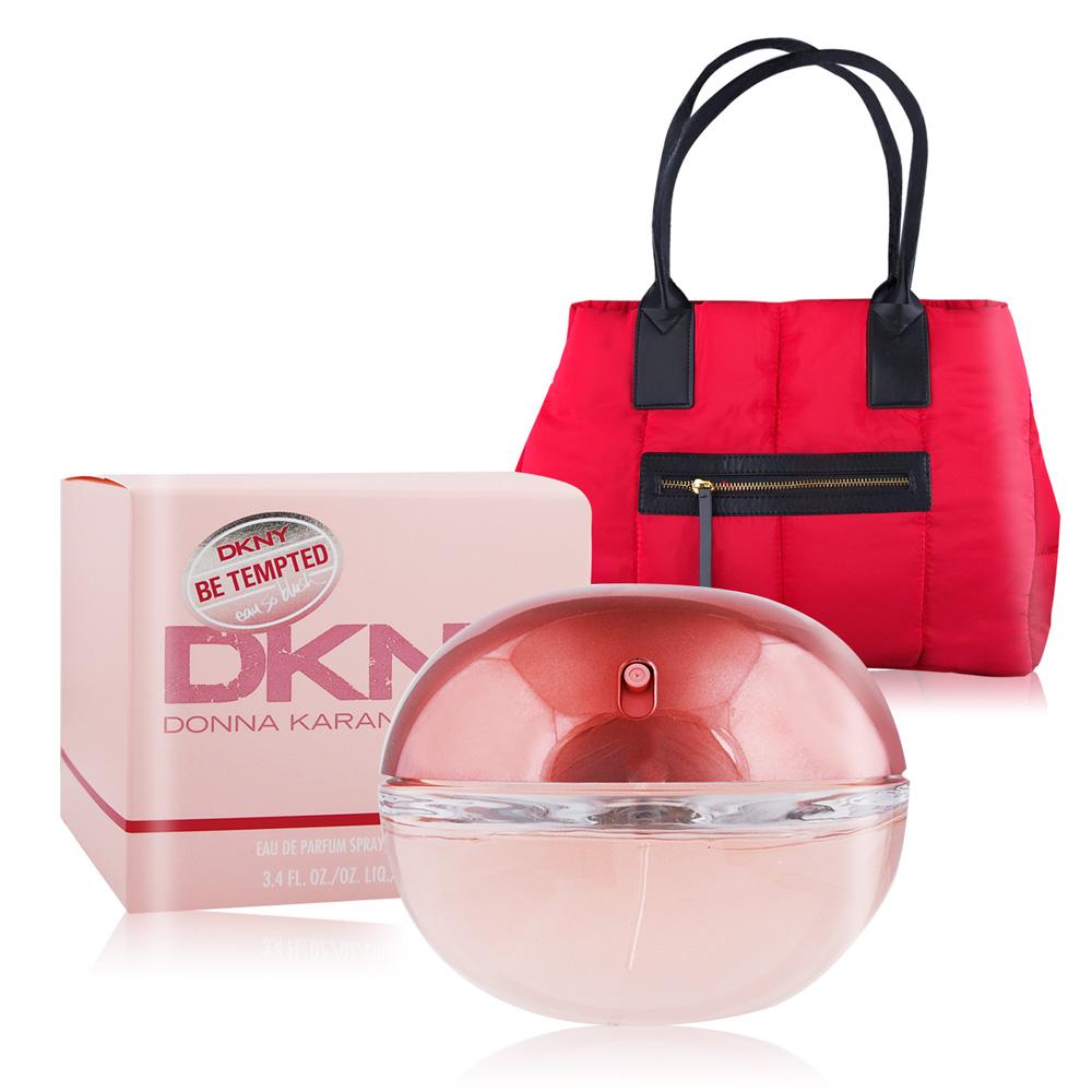 DKNY 怦然女性淡香精100ml-贈克蘭詩 經典紅色條紋空氣包