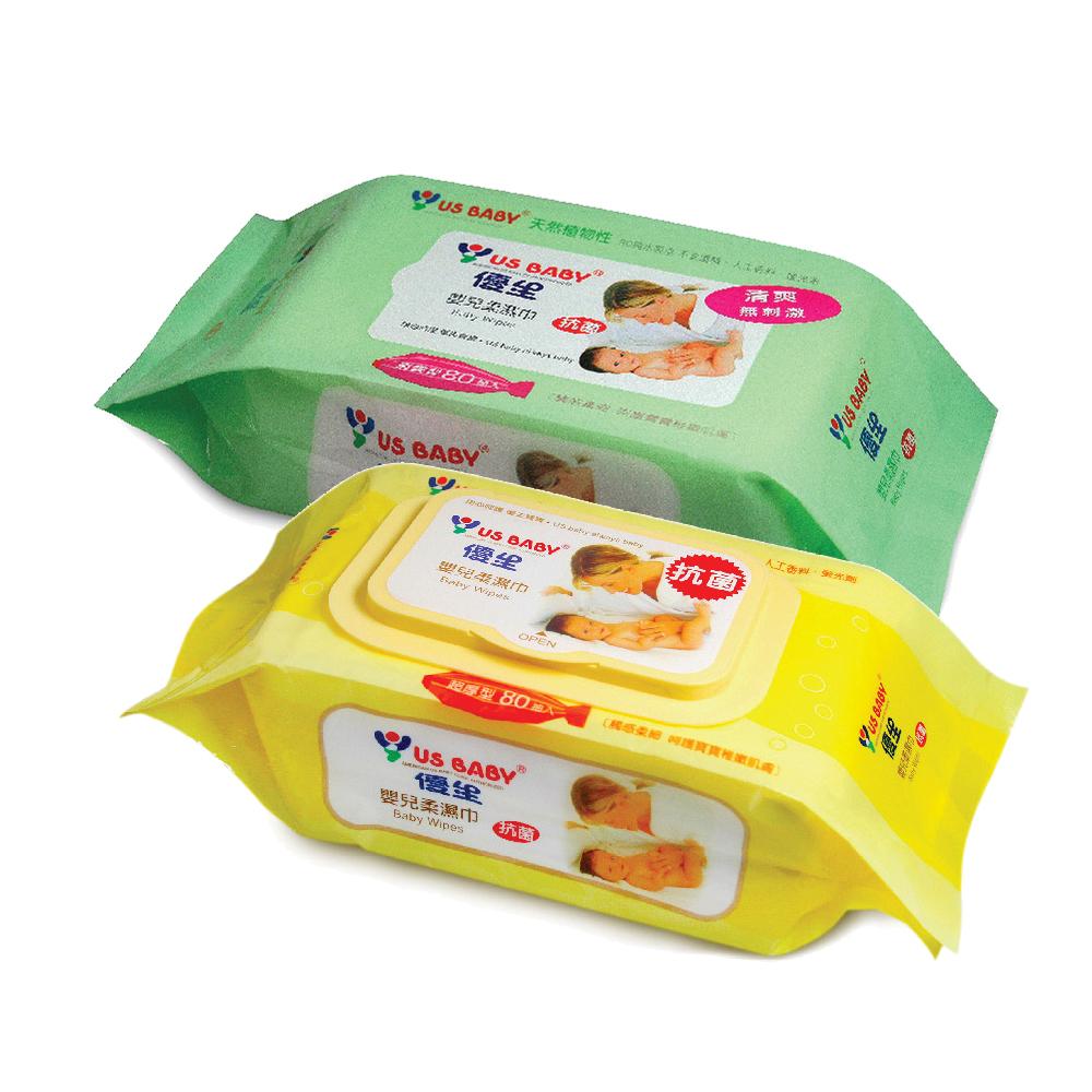 優生嬰兒柔濕巾80抽6包(清爽型) +  超厚柔濕巾80抽3包