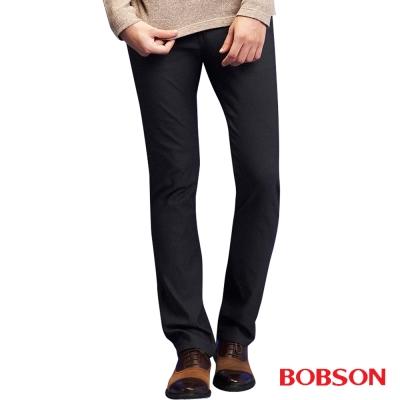 BOBSON 男款低腰高彈力直筒褲
