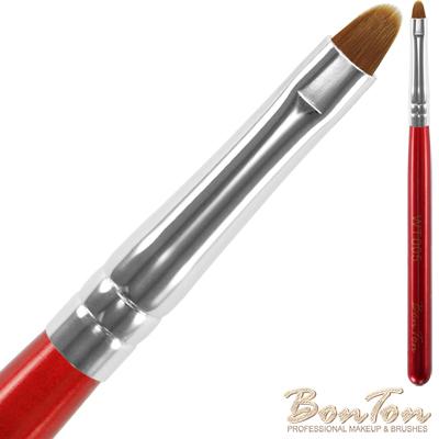 BonTon 湛紅短柄 圓眼線膠刷 WT005 貂色纖維直毛