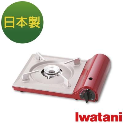日本Iwatani 岩谷達人slim磁式超薄型高效能瓦斯爐-櫻桃紅