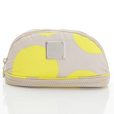 VOVAROVA空氣包-刷具化妝包-波卡圓點(黃)