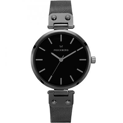 MOCKBERG LIO優雅米蘭帶時尚手錶-黑/34mm