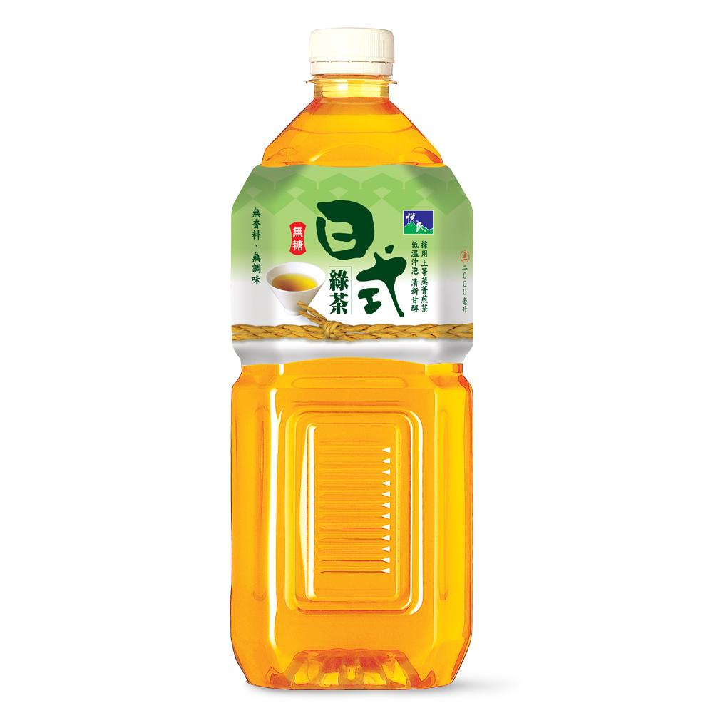 悅氏《礦泉茶品》日式綠茶-無糖 (2000ml)