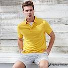 Nautica 簡約素色短袖POLO衫 -亮黃