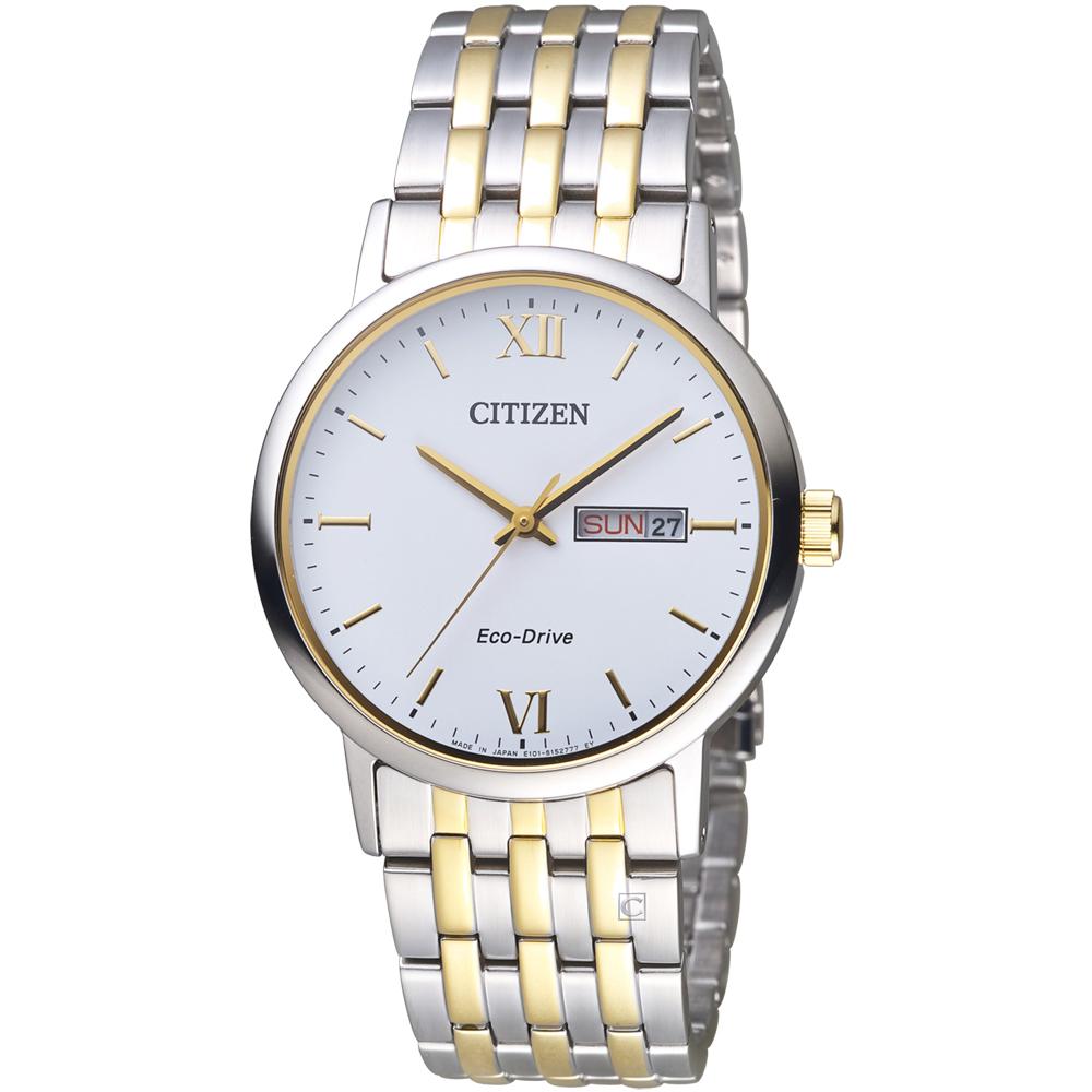 CITIZEN 知性美學時尚腕錶(BM9014-82A)-銀白x雙色/37mm