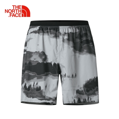 The North Face北面男款灰色輕便防水運動訓練短褲
