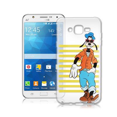 迪士尼Samsung Galaxy J7 J700街頭透明軟式手機殼(帥氣高飛)