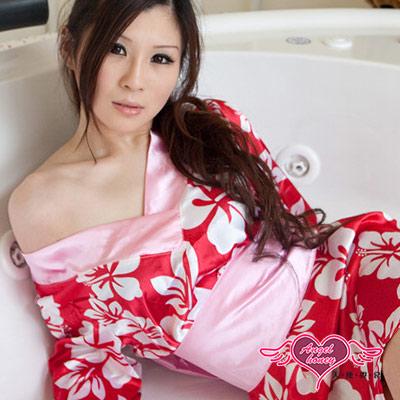 天使霓裳 日本異想國 ! 花卉v領和服 角色服(桃紅)