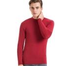 SOLIS 嚴選 MIT 立領長袖棉柔吸濕發熱衣(棗紅色)