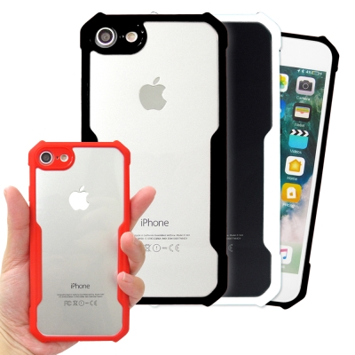 XUNDD 簡約工業風 iPhone 8/iPhone 7裸機殼 雙料手機殼