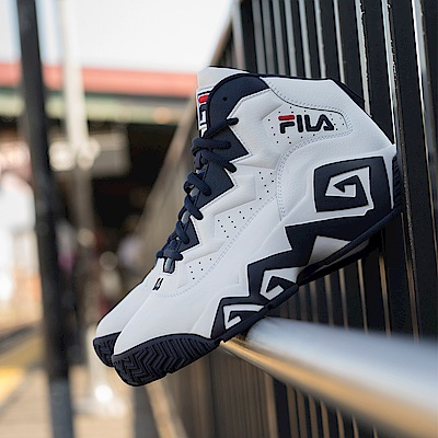 FILA MB 男款復刻籃球鞋-白兵版 1-B006S-125