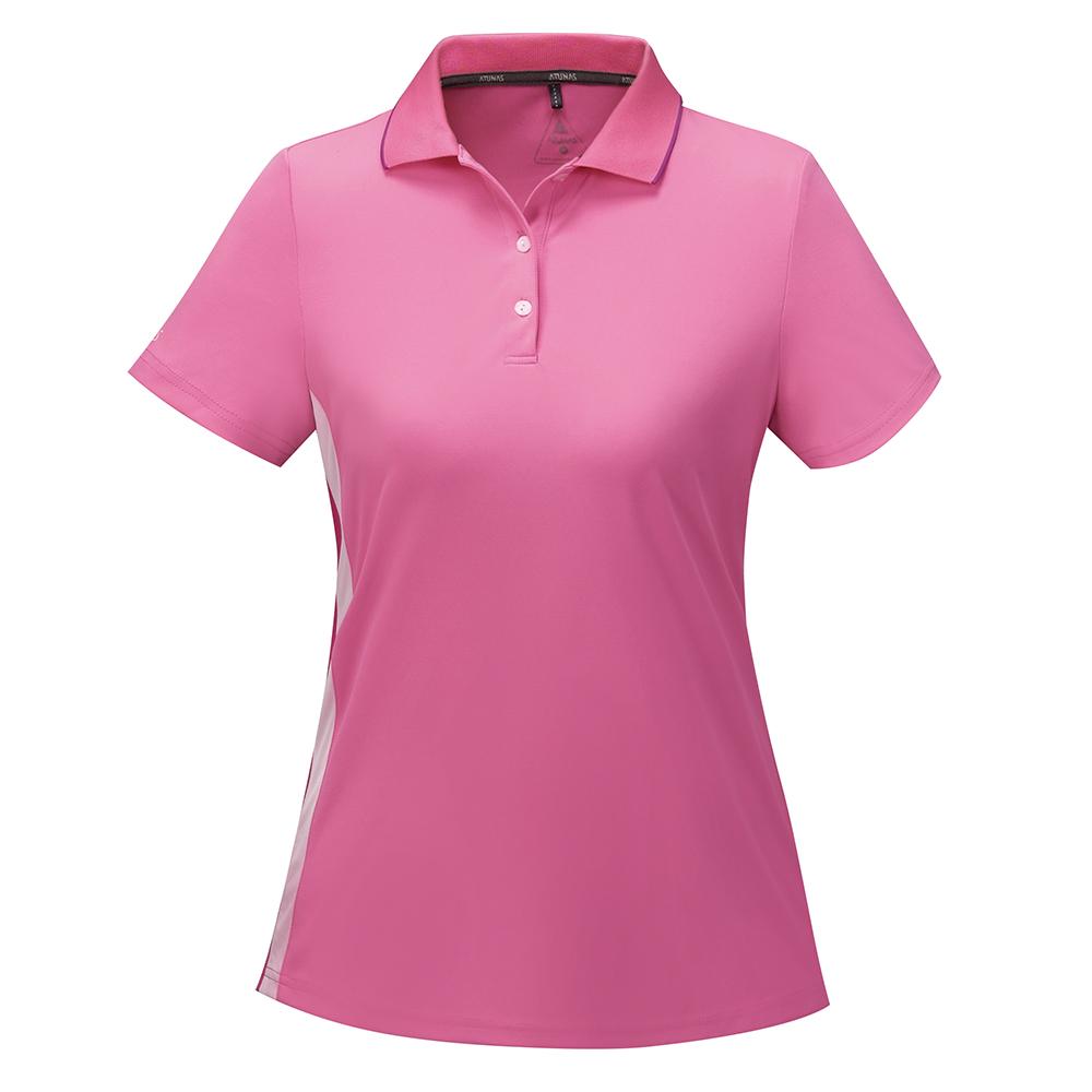 【ATUNAS 歐都納】女款涼感防曬吸濕排汗快乾短袖POLO衫A-P1704W深粉紅