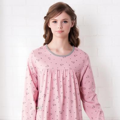 羅絲美睡衣 - 童話人生長袖洋裝睡衣(俏麗粉)
