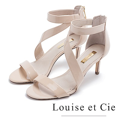 Louise et Cie 曲線優雅高跟涼鞋-米色