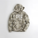 HCO Hollister 經典刺繡文字連帽T恤(女)-迷彩色
