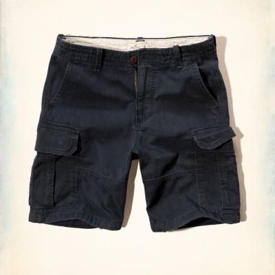 Hollister HCO 短袖 素色 短褲 深藍 211