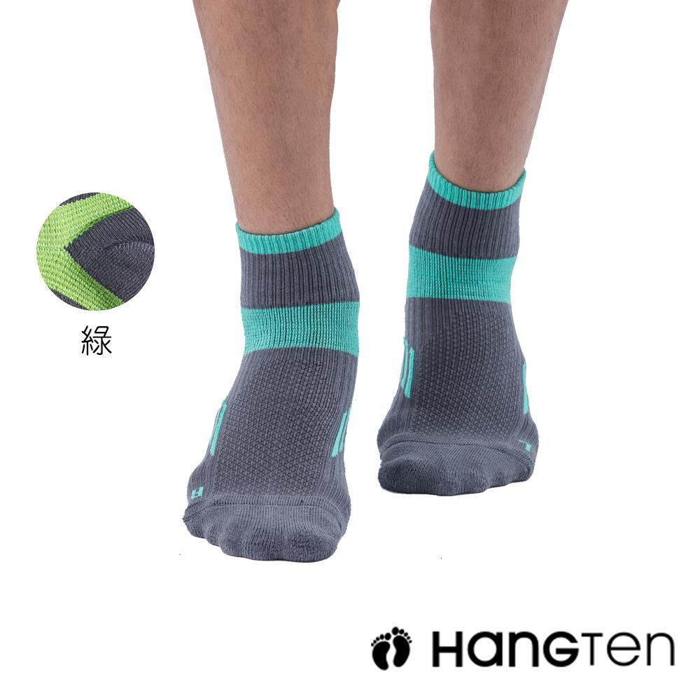 HANG TEN 二分之一氣墊機能襪2雙入組(男)_綠(HT-A33001)