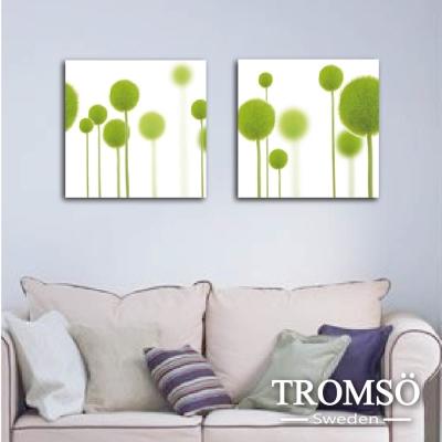 TROMSO時尚無框畫 二聯式-綠夢仲夏