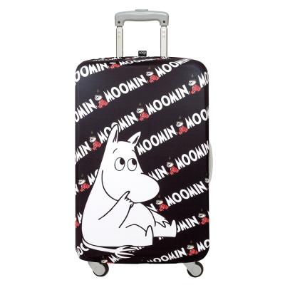 LOQI 行李箱保護套-Moomin 嚕嚕米(L號 適用28吋以上行李箱)