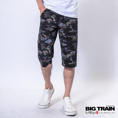 BIG TRAIN 墨龍和柄短褲-男-黑