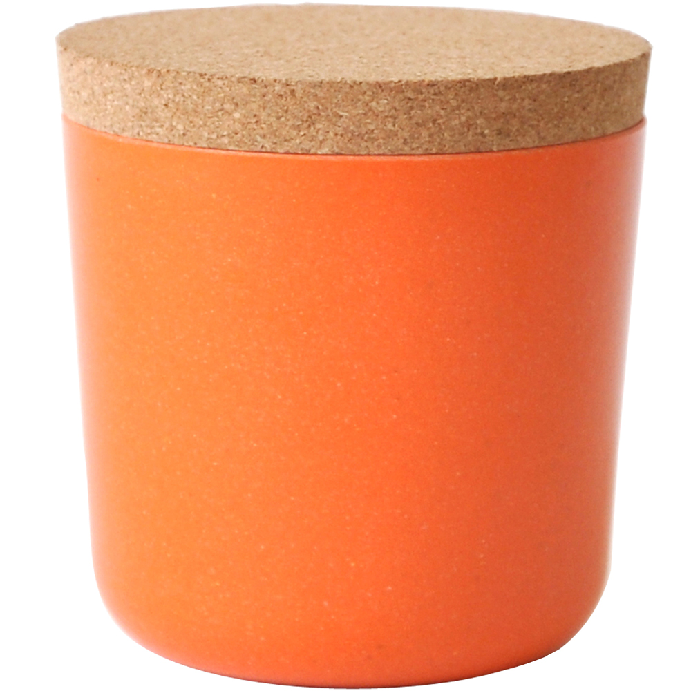 BIOBU Gusto軟木蓋儲物罐(橘S)
