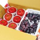 【鮮果日誌】甜蜜禮讚葡萄禮盒(日本蜜蘋果6入+巨峰葡萄2.5台斤)