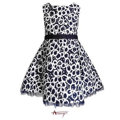 Annys夢幻高質氣場滿版花朵背心裙洋裝*7219藍