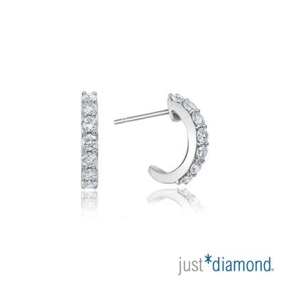 Just Diamond Charming系列 18K金 鑽石耳環