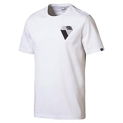 PUMA-男性基本系列小塗鴉短袖T恤-白色-亞規