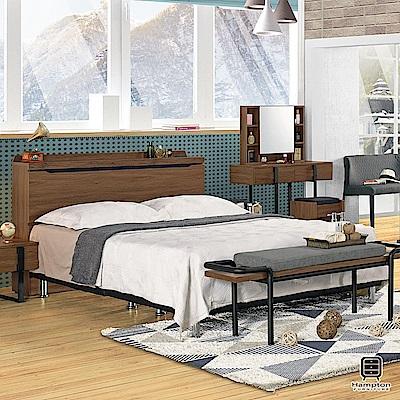 漢妮Hampton莫特系列6尺被櫥式雙人床架