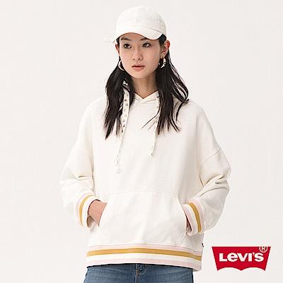 帽T 女裝 撞色下擺 - Levis