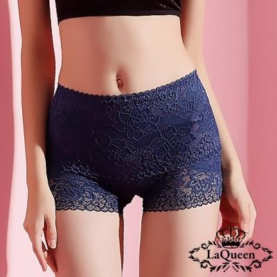 塑褲  高質中高腰蠶絲膠原蛋白塑褲-寶藍 La Queen