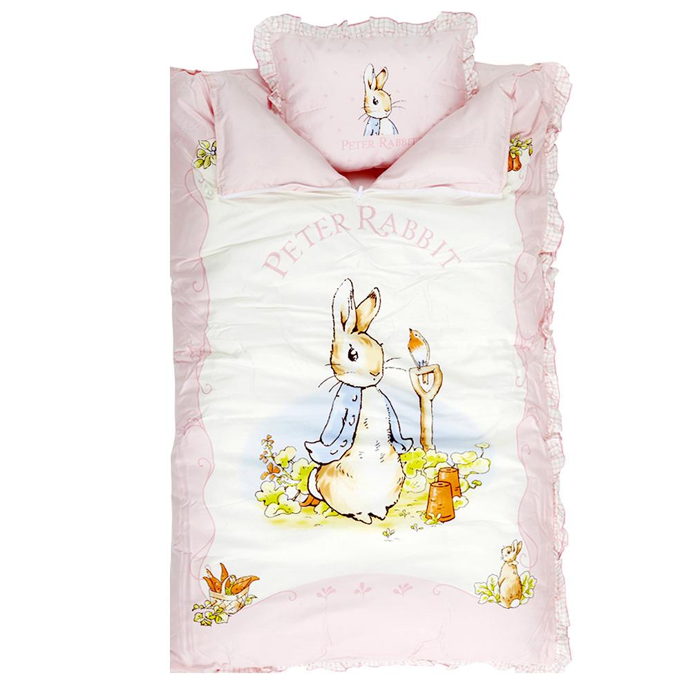 粉彩比得兔嬰兒兩用睡袋+小枕(粉紅)
