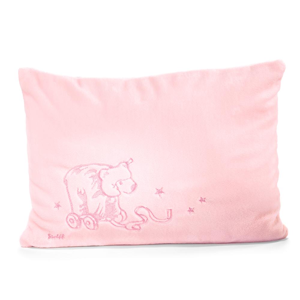 STEIFF德國金耳釦泰迪熊 - 嬰幼兒 枕頭 粉紅x白色 40x30cm
