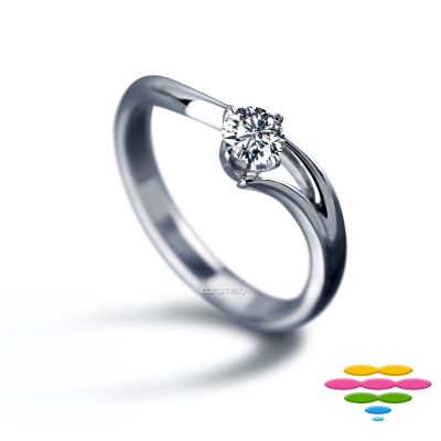 彩糖鑽工坊 19分鑽石戒指 求婚戒 <br> 永恆的守候系列