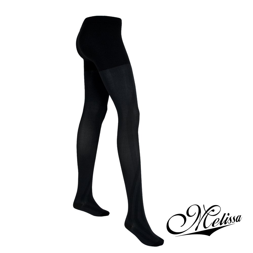 Melissa 魅莉莎 醫療級時尚彈性美腿襪─褲襪(典雅黑)