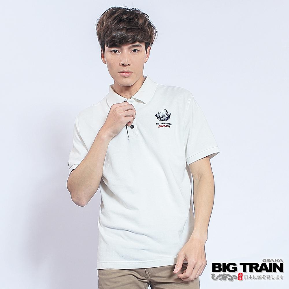 BIG TRAIN 武侍家徽POLO衫-男-白色