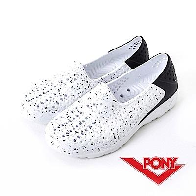 【PONY】TROPIC 系列-舒適休閒鞋-中性-黑/白