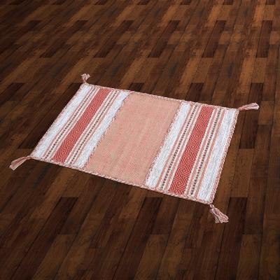 【Ambience】Kilim 手織純棉地毯 -紅橘色 (60x90cm)
