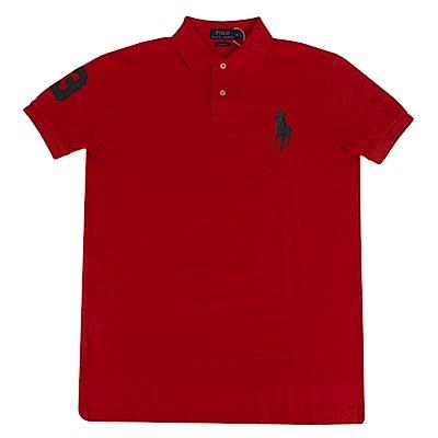 Polo Rlaph Lauren 經典大馬刺繡短袖Polo衫-紅色