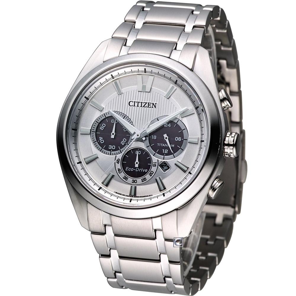 CITIZEN 特務菁英【鈦】時尚計時腕錶(CA4011-55A)-銀/43mm